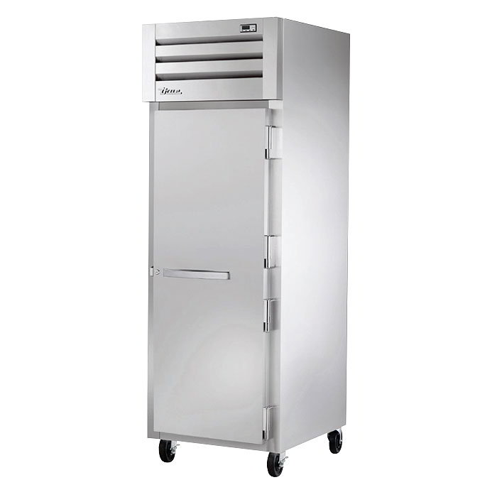 "True STA1H-1S 27-1/2"" Reach-In Heated Cabinet - 1-Section, Glass Full Door, Stainless 208-230v"