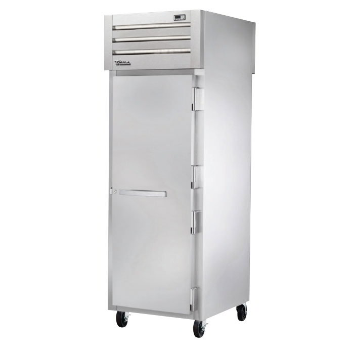 "True STA1HPT-1S-1S 28"" Pass-Thru Heated Cabinet - 2-Solid Doors, Stainless Exterior"