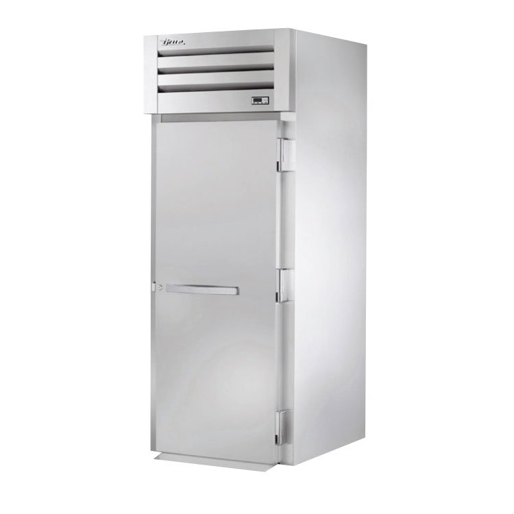 "True STA1HRI89-1S 35"" Roll-In Heated Cabinet - 1-Section, Solid Full Door, Stainless 115/208-230v"