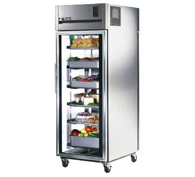 True TA1RPT-1G-1S Refrigerator, Pass-Thru, 1 Section, 1 Glass/1 SS Doors, 31 cu ft