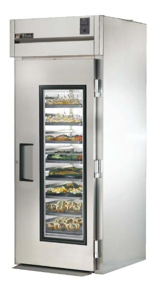 "True STA1RRI-1G 35"" Roll-In Refrigerator - 1-Glass Door, Stainless Exterior"