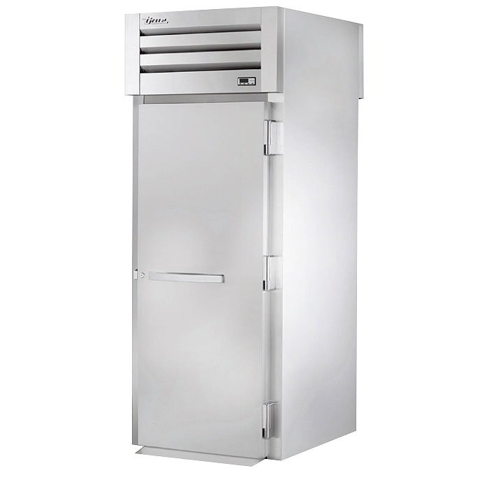 "True STA1RRT89-1S-1S 35"" Roll-Thru Refrigerator - 2-Solid Doors, 89""H, Stainless Exterior"
