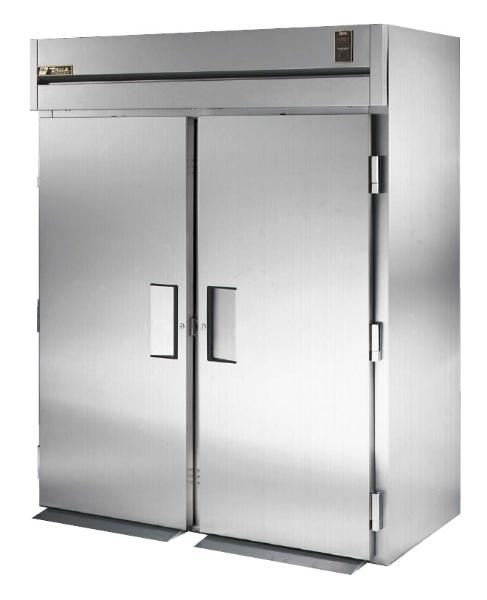 "True STA2FRI-2S 68"" Roll-In Freezer - 2-Solid Doors, Stainless Exterior"