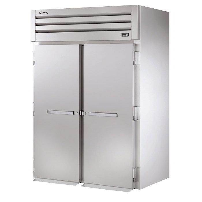"True STA2HRI-2S 68"" Roll-In Heated Cabinet - 2-Solid Doors, Stainless Exterior"
