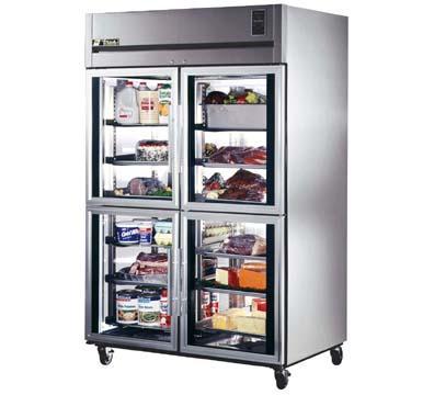 ... TA2R-4HG 2-Section Reach-In Refrigerator w/ Glass Half Doors, 56-cu ft