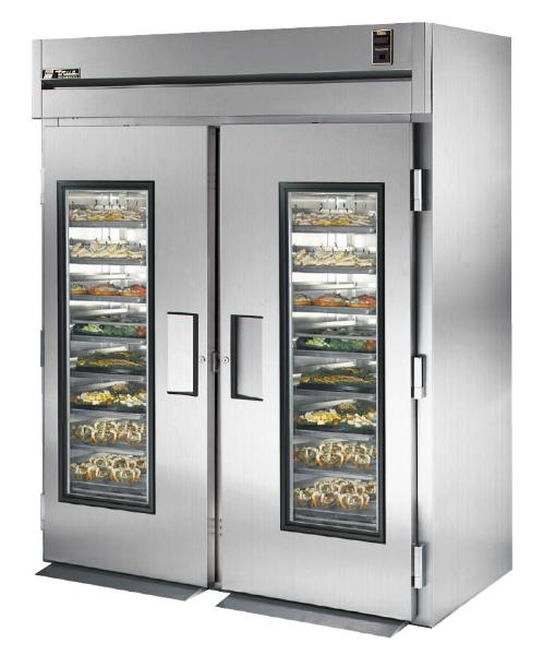 "True STA2RRI-2G 68"" Roll-In Refrigerator - 2-Glass Doors, Stainless Exterior"