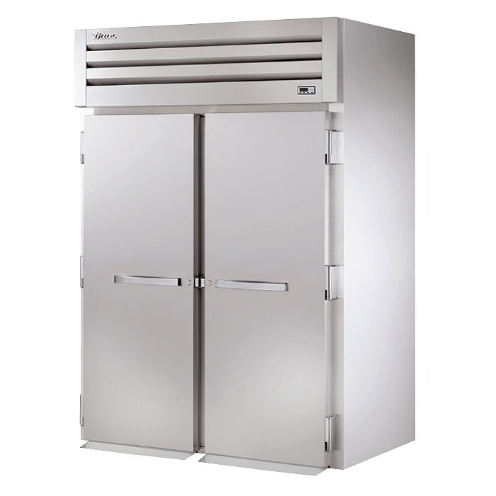 "True STA2RRI-2S 68"" Roll-In Refrigerator - 2-Section, 2-Solid Full Doors, Stainless 115v"