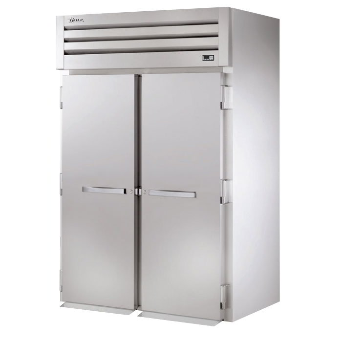 "True STA2RRI89-2S 68"" Roll-In Refrigerator - 2-Solid Full Doors, Stainless 115v"