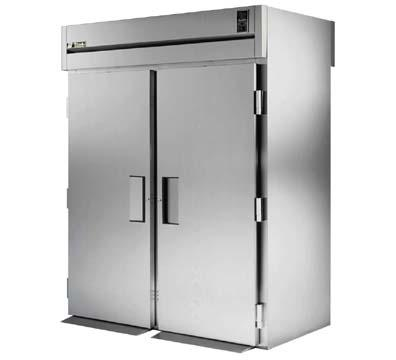 "True STA2RRT-2S-2S 68"" Roll-Thru Refrigerator - 4-Solid Doors, Stainless Exterior"