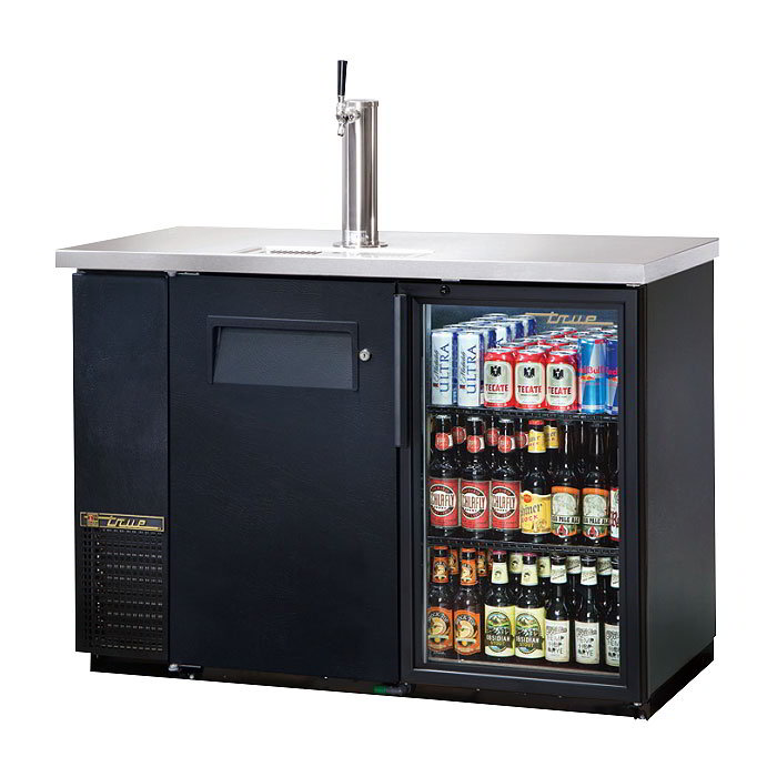 "True TDB-24-48-1-G-1-LD 49.13"" Draft Beer System w/ (.5) Keg Capacity - (1) Column, Black, 115v"