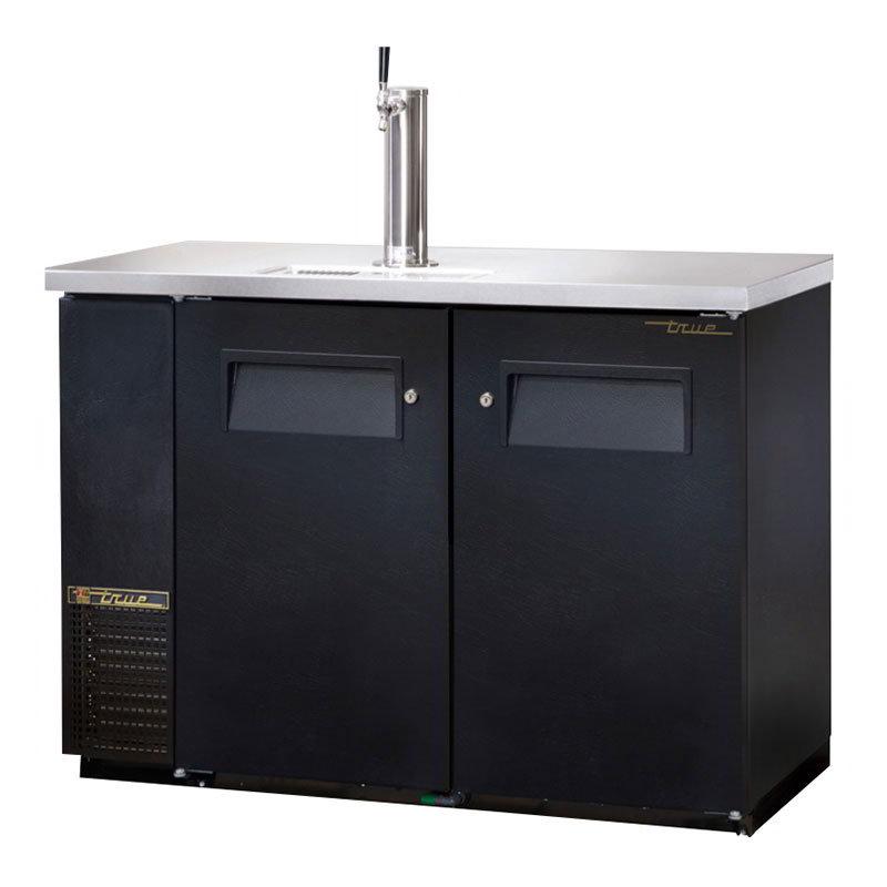 """True TDB-24-48 49.13"""" Draft Beer System w/ (.5) Keg Capacity - (1) Column, Black, 115v"""