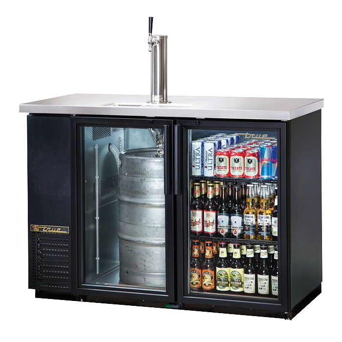 "True TDB-24-48G-LD 49.13"" Draft Beer System w/ (.5) Keg Capacity - (1) Column, Black, 115v"