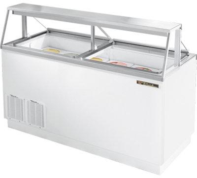 "True TDC-67 67.75"" Stand Alone Ice Cream Freezer w/ 12-Tub Capacity & 8-Tub Storage, 115v"
