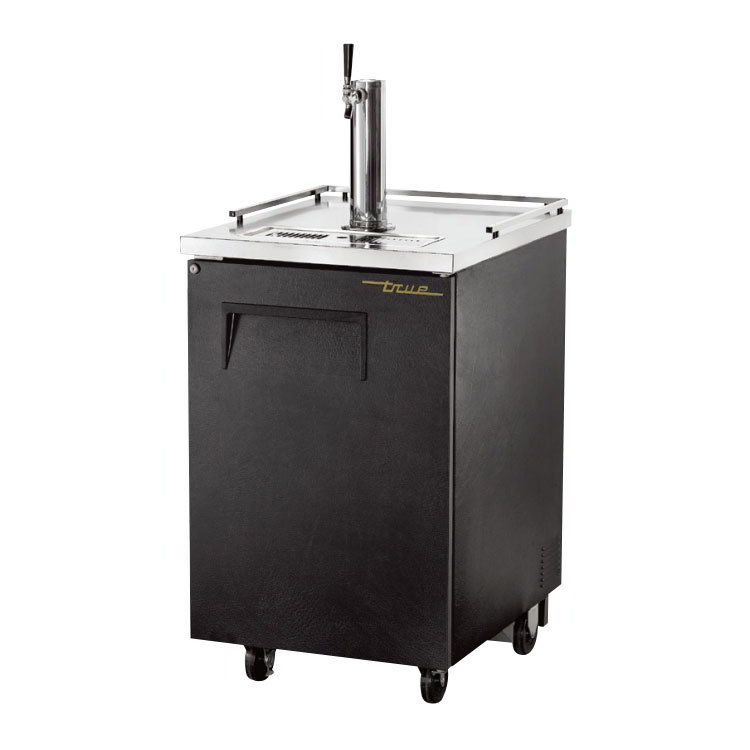 "True TDD-1 23.5"" Draft Beer System w/ (.5) Keg Capacity - (1) Column, Black, 115v"
