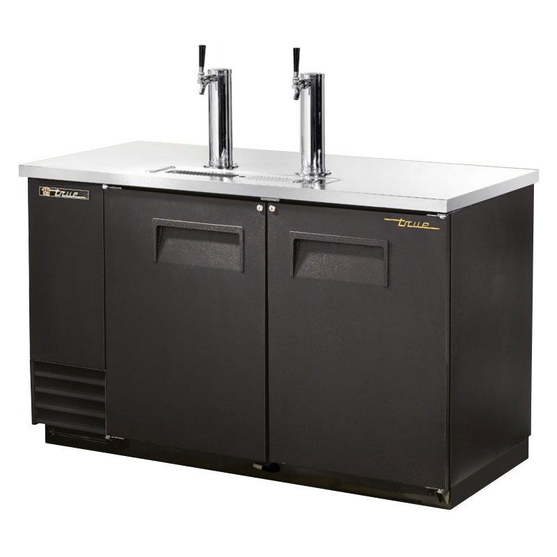 """True TDD-2 58.88"""" Draft Beer System w/ (2) Keg Capacity - (2) Columns, Black, 115v"""