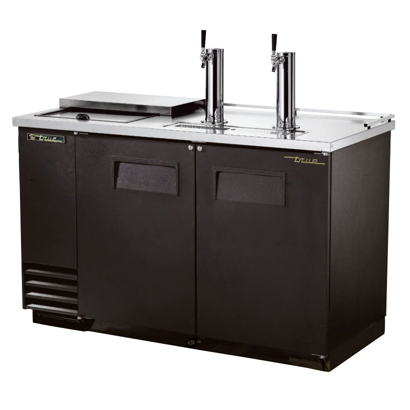 """True TDD-2CT 58.88"""" Draft Beer System w/ (2) Keg Capacity - (2) Columns, Black, 115v"""
