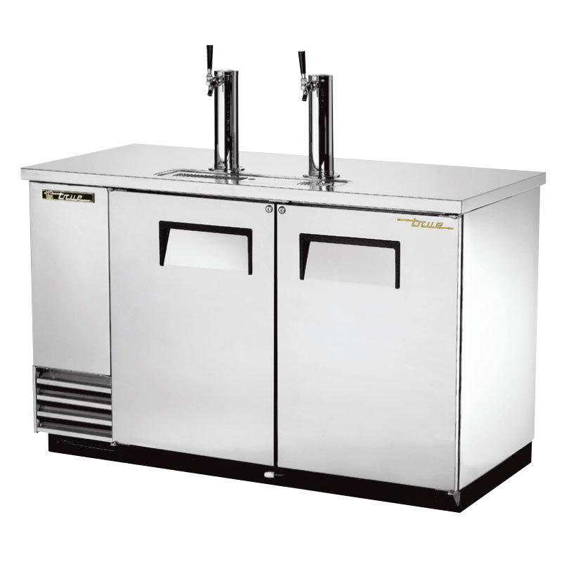 "True TDD-2-S 58.88"" Draft Beer System w/ (2) Keg Capacity - (2) Columns, Stainless, 115v"