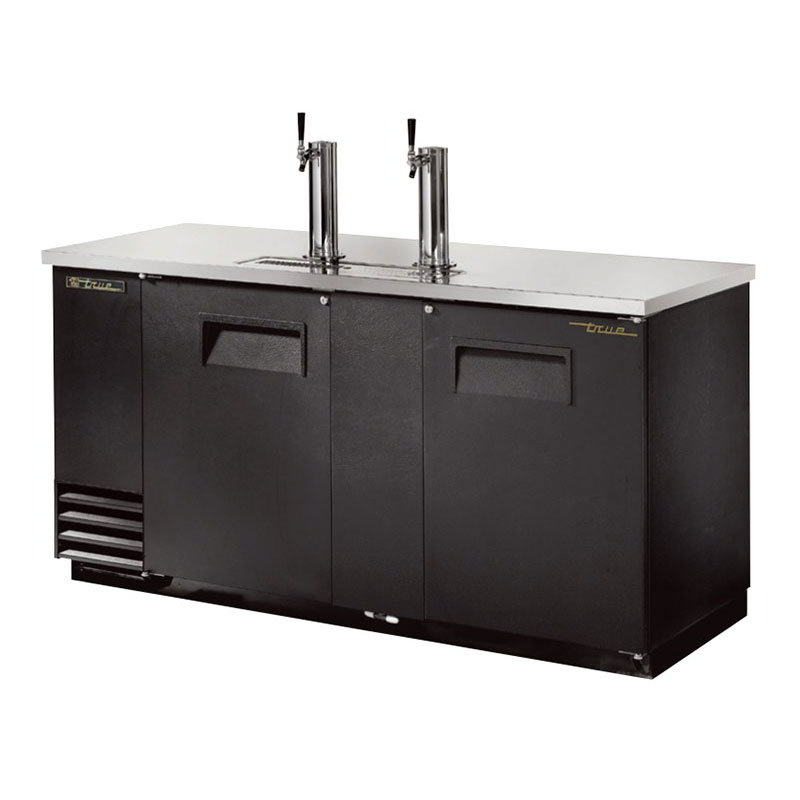 "True TDD-3 69.13"" Draft Beer System w/ (3) Keg Capacity - (2) Columns, Black, 115v"