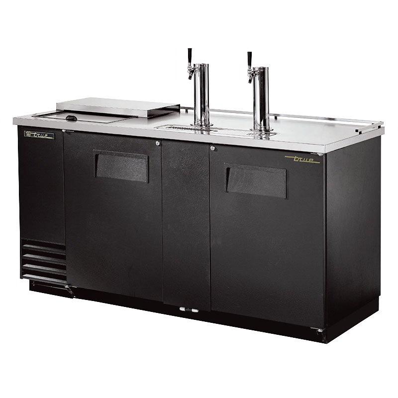 """True TDD-3CT 69.13"""" Draft Beer System w/ (3) Keg Capacity - (2) Columns, Black, 115v"""