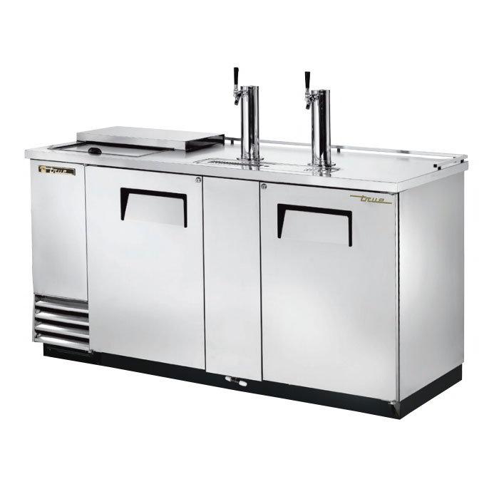 "True TDD-3CT-S 69.13"" Draft Beer System w/ (3) Keg Capacity - (2) Columns, Stainless, 115v"