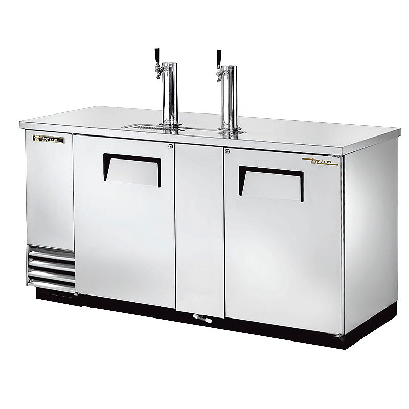 "True TDD-3-S 69.13"" Draft Beer System w/ (3) Keg Capacity - (2) Columns, Stainless, 115v"