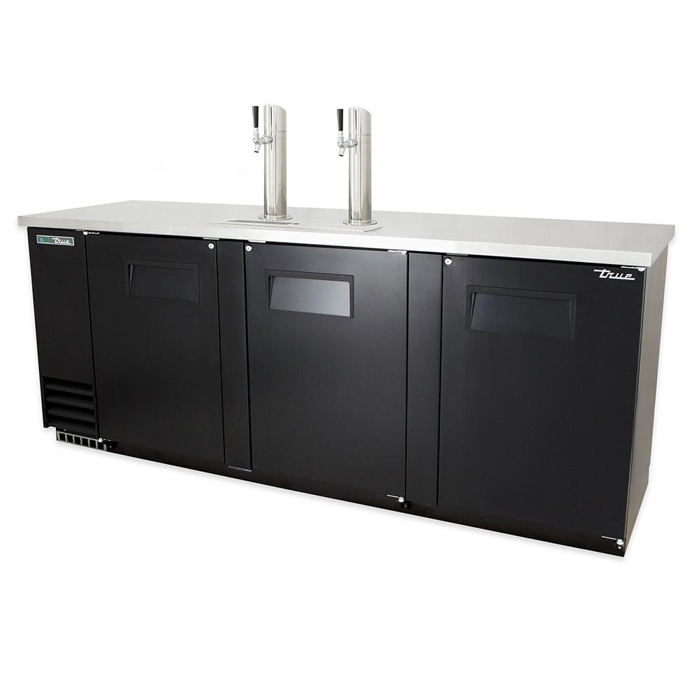 """True TDD-4 90.38"""" Draft Beer System w/ (4) Keg Capacity - (2) Columns, Black, 115v"""