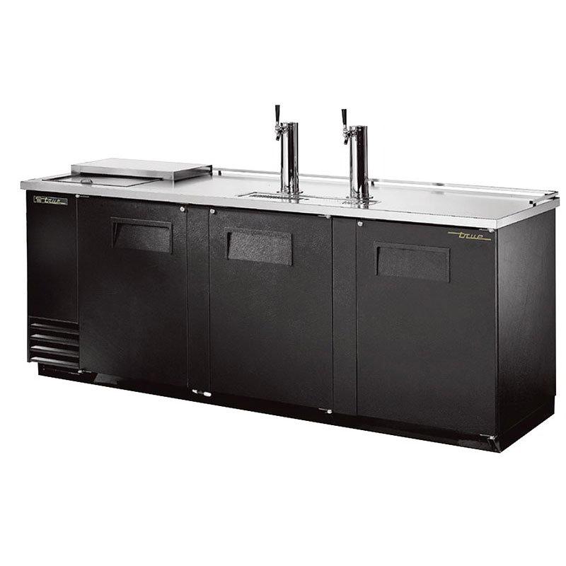 """True TDD-4CT 90.37"""" Draft Beer System w/ (4) Keg Capacity - (2) Columns, Black, 115v"""