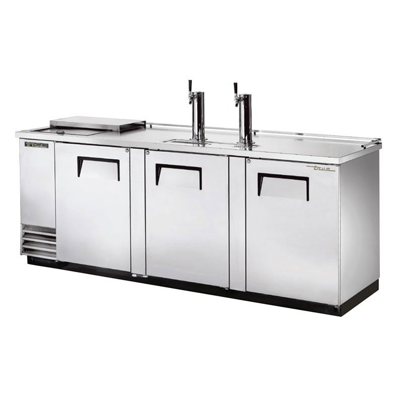 "True TDD-4CT-S 90.37"" Draft Beer System w/ (4) Keg Capacity - (2) Columns, Stainless, 115v"