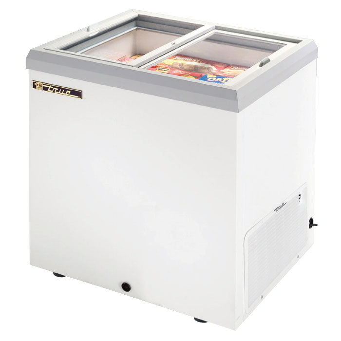 "True TFM-29FL BK 29.88"" Mobile Ice Cream Freezer, 115v"