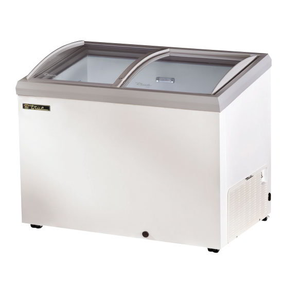 "True TFM-51AL BK 51.25"" Mobile Ice Cream Freezer, 115v"