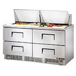 Refrigerated Sandwich Unit - (4) Wells, (4) Drawers, 1/3HP Compressor, 120v