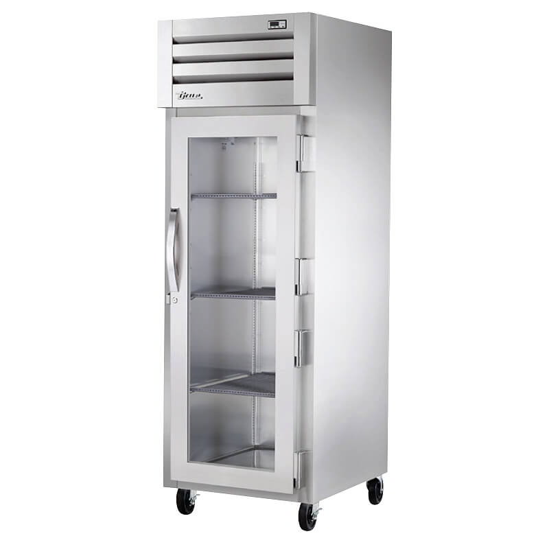 "True STG1H-1G 28"" Pass-Thru Freezer - 4-Solid Half Doors, Stainle"