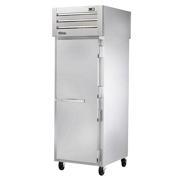 "True STG1HPT-1S-1S 28"" Pass-Thru Heated Cabinet - 2-Solid Doors, Stainless/Aluminum"