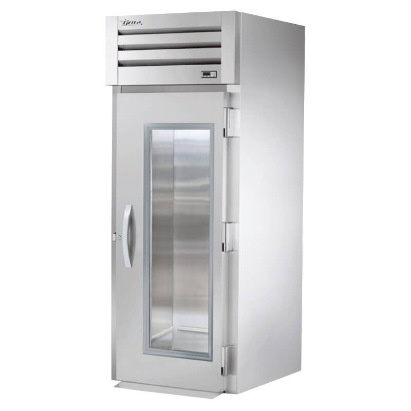 "True STG1RRI-1G 35"" Roll-In Refrigerator - 1-Glass Door, Stainless/Aluminum"