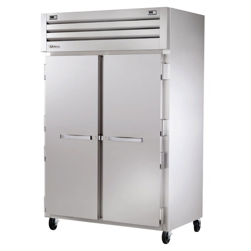 "True STG2DT-2S 53"" Reach-In Refrigerator/Freezer - 2-Solid Doors, Stainless/Aluminum"