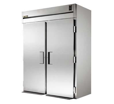 "True STG2RRI89-2S 68"" Roll-In Refrigerator - 2-Solid Doors, 89""H, Stainless/Aluminum"