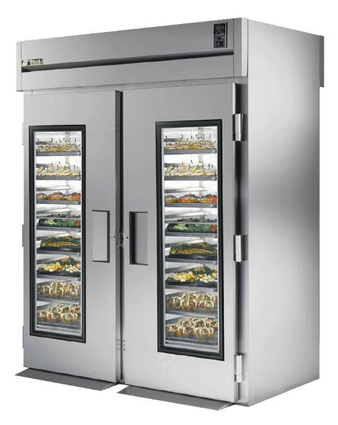 "True STG2RRT-2G-2S 68"" Roll-Thru Refrigerator - 2-Glass/2-Solid Doors, Stainless/Aluminum"