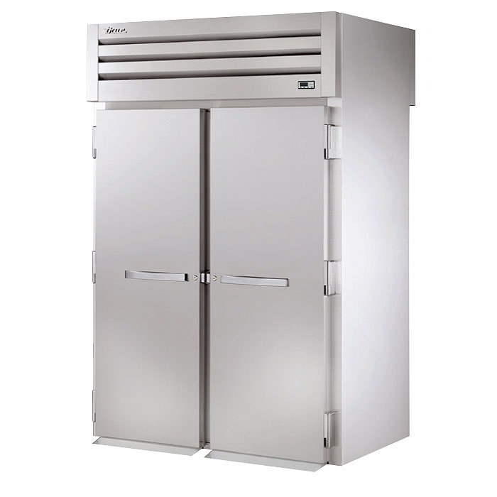 "True STG2RRT89-2S-2S 68"" Roll-Thru Refrigerator - 4-Solid Doors, 89""H, Stainless/Aluminum"