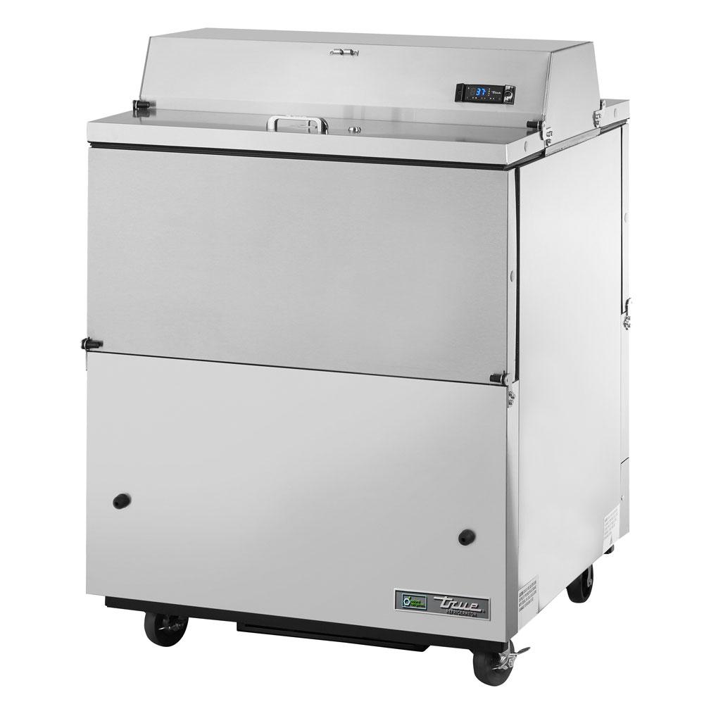 True TMC-34-DS-SS 8-Crate Milk Cooler - Side Lift Doors, 115v