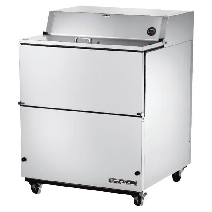 True TMC-34-S 8-Crate Milk Cooler - Side Lift Doors, 115v