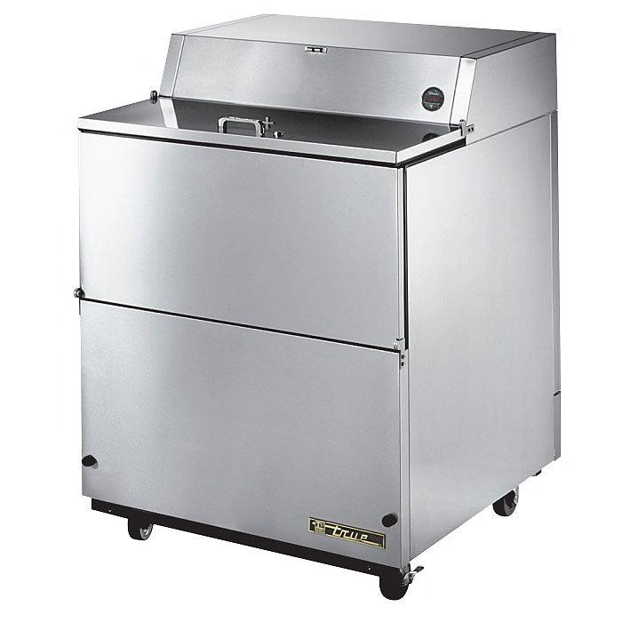 True TMC-34-S-SS 8-Crate Milk Cooler - Side Lift Doors, 115v