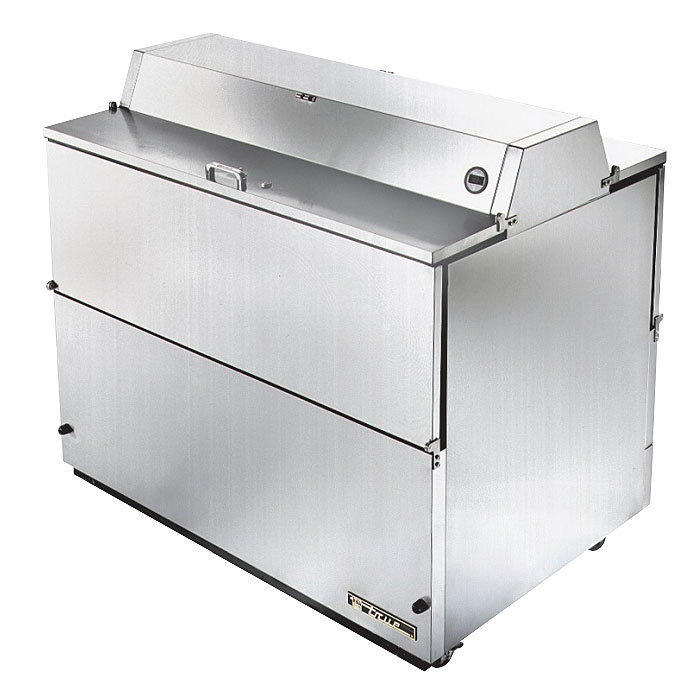 True TMC-49-S-DS-SS 12-Crate Milk Cooler - Dual Side Lids, 115v