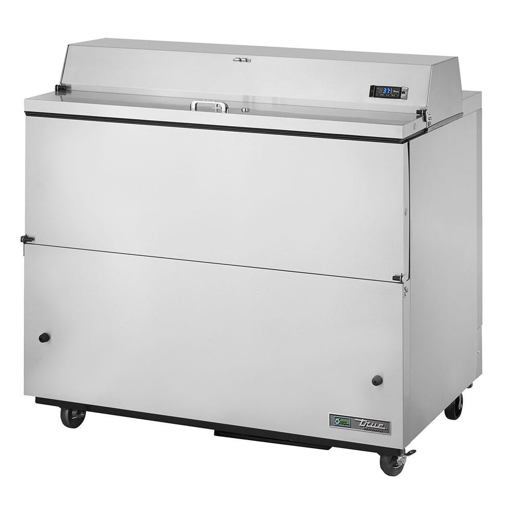 True TMC-49-S-SS 12-Crate Milk Cooler - Side Lift Doors, 115v