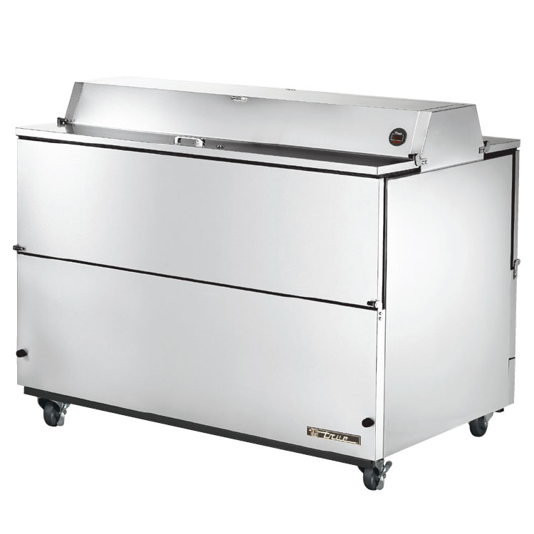 True TMC-58-S-DS 16-Crate Milk Cooler - Side Lift Doors, 115v