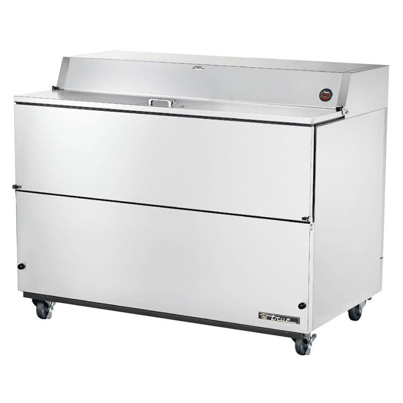 True TMC-58-S-SS 16-Crate Milk Cooler - Side Lift Doors, 115v