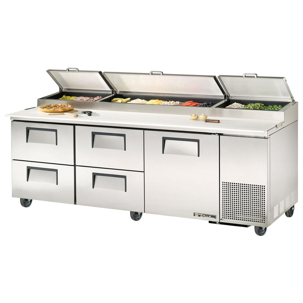 "True TPP-93D-4 93.25"" Pizza Prep Table w/ Refrigerated Base, 115v"