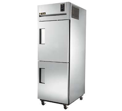 True TR1F-2HS Freezer, Reach-In, 1 Section, 2SS Half Doors, 31 cu ft