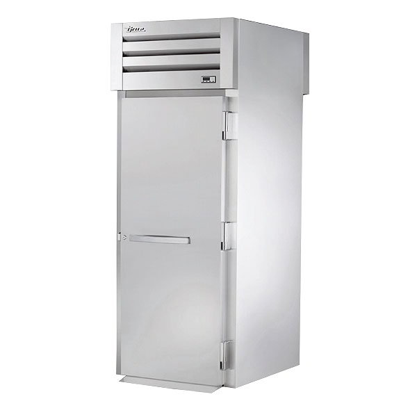 "True STR1HRT-1S-1S 35"" Roll-Thru Heated Cabinet - 1-Solid Door, All Stainless"