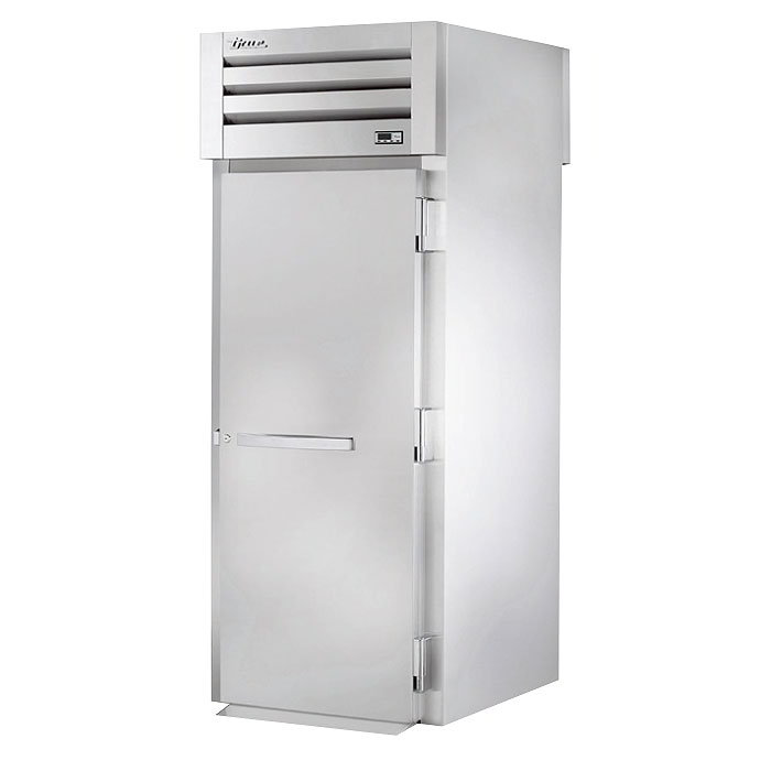 "True STR1HRT89-1S-1S 35"" Roll-Thru Heated Cabinet - 1-Solid Door, 89""H, All Stainless"