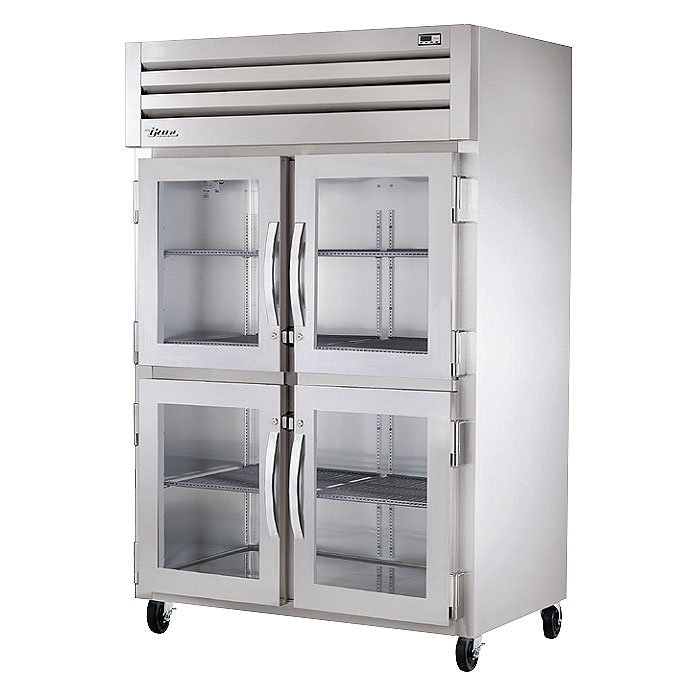 "True STR2H-4HG 53"" Reach-In Heated Cabinet - 2-Glass Half Doors, All"